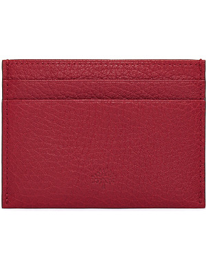 MULBERRY Grained-leather credit card slip