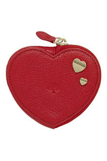 MULBERRY Valentines heart leather coin purse