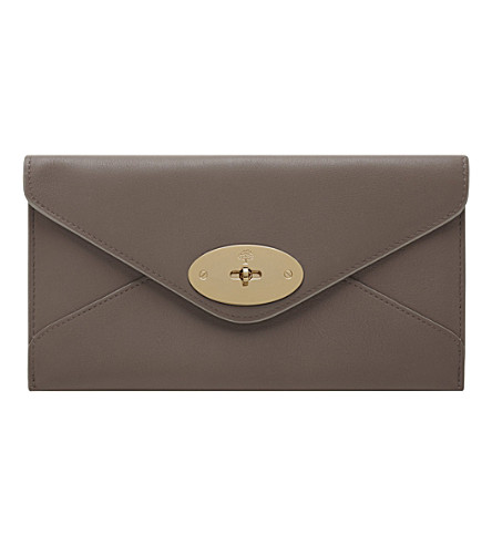 MULBERRY Leather envelope wallet (Taupe