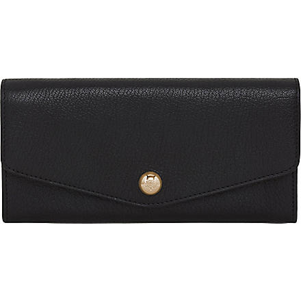 MULBERRY Domerivet glossy goat leather wallet (Black