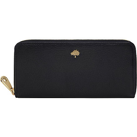 MULBERRY Tree glossy goat leather wallet (Black
