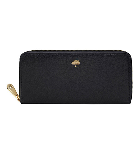 MULBERRY Tree zip-around wallet (Black