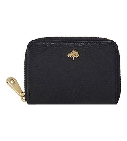 MULBERRY Tree glossy goat leather purse (Black