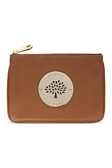 MULBERRY Daria spongy pebbled leather pouch