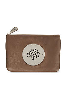 MULBERRY Daria top zip leather pouch
