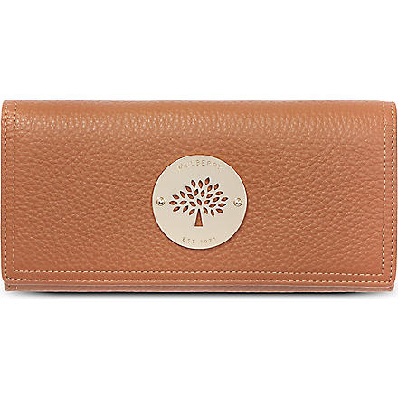 MULBERRY Daria spongy leather wallet (Oak