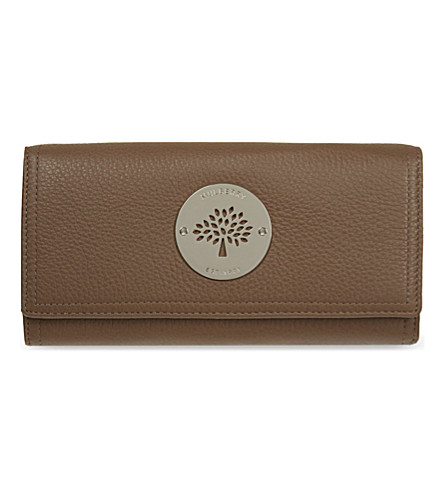 MULBERRY Daria Continental leather wallet (Taupe
