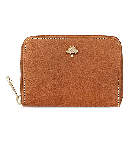 MULBERRY Tree zip-around purse (Oak