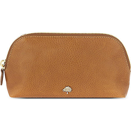 MULBERRY Leather cosmetic case (Oak