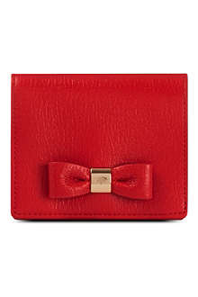 MULBERRY Bow glossy goat leather purse