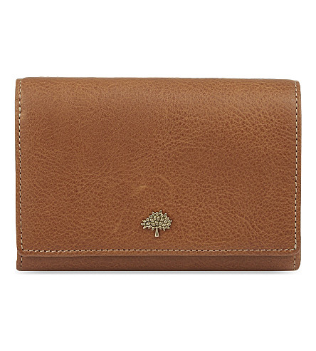 MULBERRY Tree leather French purse (Oak