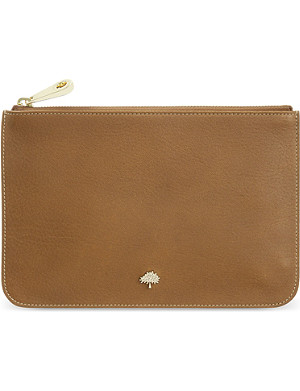 MULBERRY Natural vegetable leather tree pouch