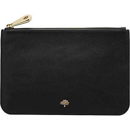 MULBERRY Tree leather pouch (Black