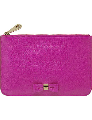 MULBERRY Bow glossy goat leather pouch