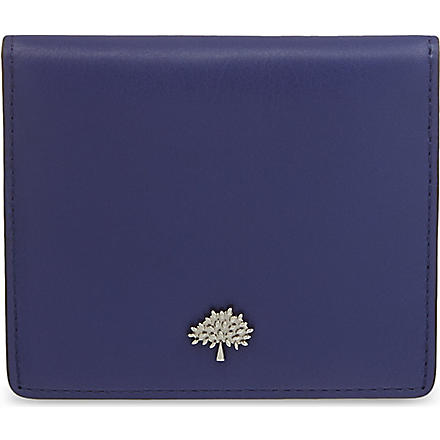 MULBERRY Tree slim card case (Indigo