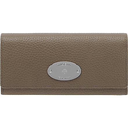 MULBERRY Natural leather continental wallet (Taupe