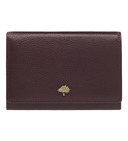 MULBERRY Tree French leather purse (Oxblood