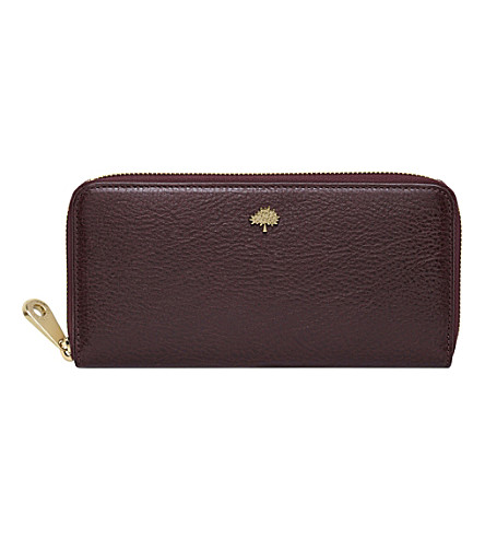 MULBERRY Tree glossy goat leather wallet (Oxblood