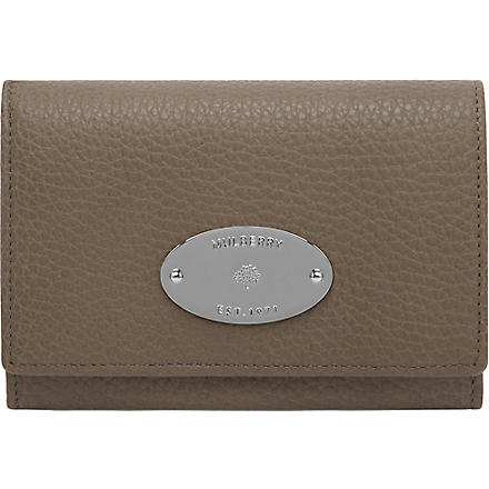MULBERRY Soft grain leather French purse (Taupe