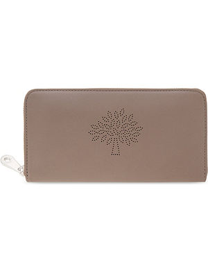 MULBERRY Blossom zip around calf leather wallet
