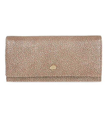 MULBERRY Tree metallic leather continental wallet (Metallic+mushroom