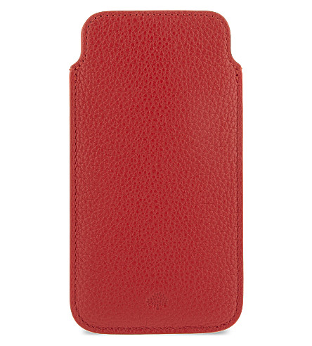 MULBERRY Classic grained leather iPhone 6 cover (Fiery+spritz