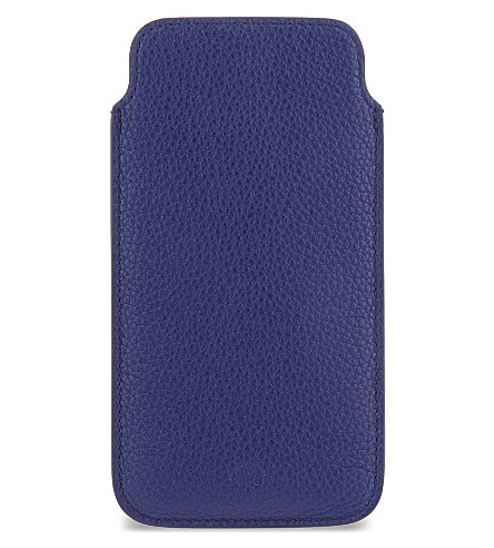 MULBERRY Classic grained leather iPhone 6 cover (Neon+blue