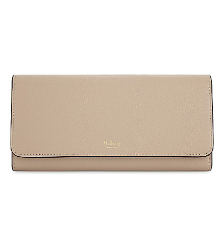 MULBERRY Continental grained leather wallet (Rosewater