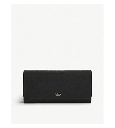 MULBERRY Grained leather continental wallet (Black