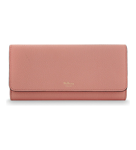 MULBERRY Grained leather continental wallet (Macaroon pink