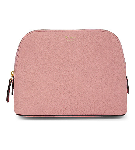 MULBERRY Leather cosmetics pouch (Macaroon+pink