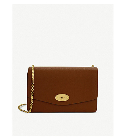 MULBERRY Darley small leather shoulder bag (Oak