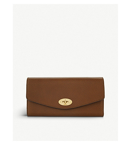 MULBERRY Darley leather wallet (Oak