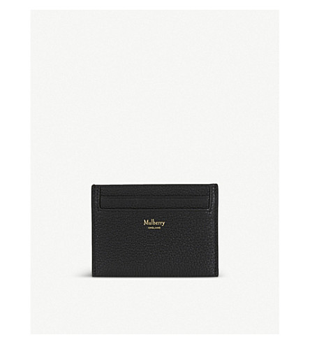 MULBERRY Grained leather card holder (Black