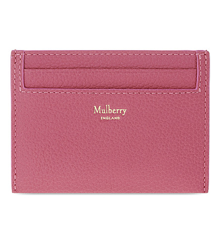 MULBERRY Grained leather card holder (Candy