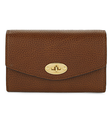 MULBERRY Darley medium leather wallet (Oak