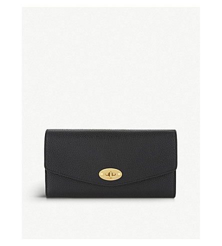 MULBERRY Darley small grained leather wallet (Black