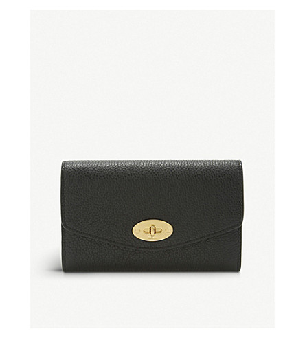 MULBERRY Darley medium grained leather wallet (Black