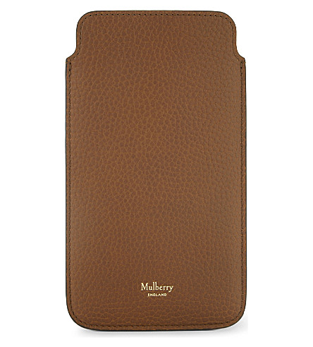 MULBERRY Leather iPhone 6s Plus cover (Oak