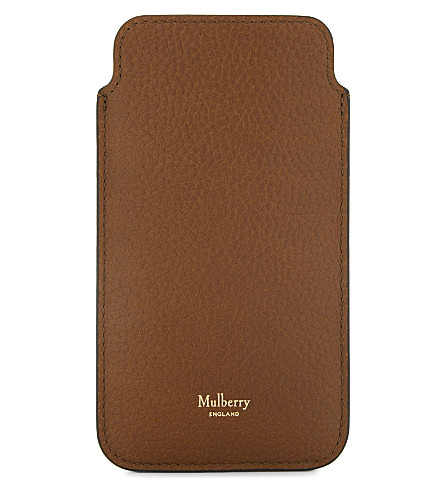 MULBERRY Grained leather iPhone cover 6/6S (Oak