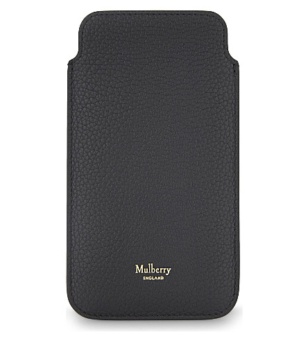MULBERRY Grained leather iPhone cover 6/6S (Black