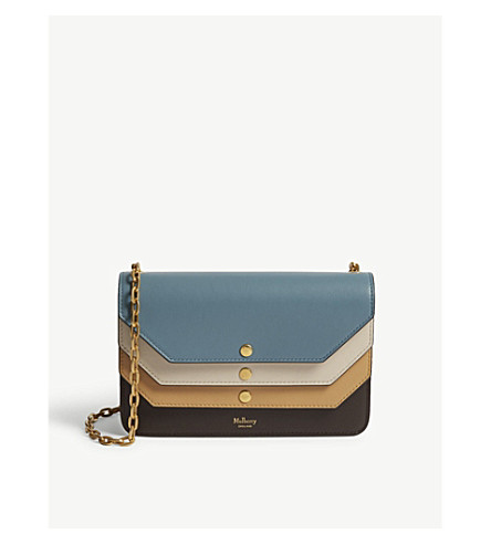 MULBERRY Multiflap leather cross-body bag (Multi