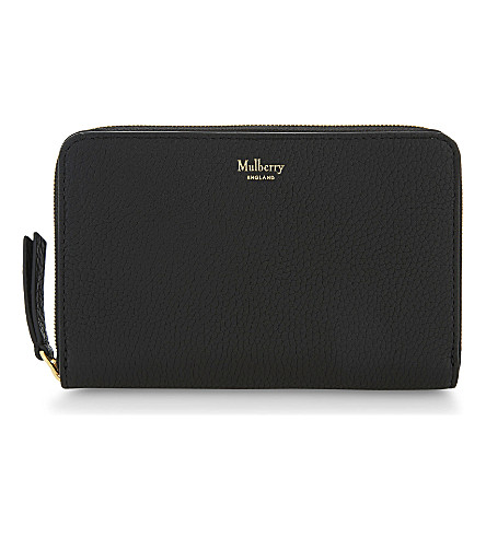 MULBERRY Medium grained leather wallet (Black