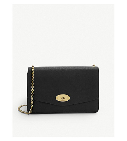 MULBERRY Small Darley leather clutch (Black
