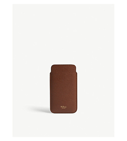 MULBERRY iPhone 7 leather cover with card slip (Oak