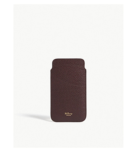 MULBERRY iPhone 6/6S/7/8 leather cover with card slot (Oxblood