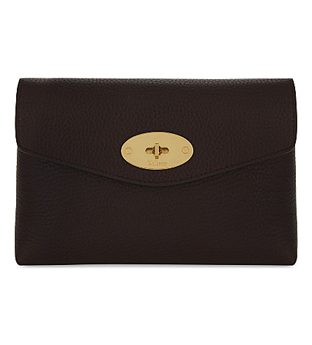 MULBERRY Darley grained leather cosmetic pouch (Oxblood