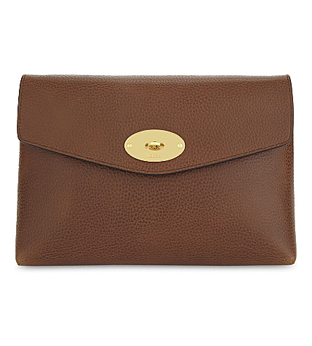 MULBERRY Darley large cosmetic pouch (Oak