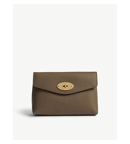 MULBERRY Small Darley leather pouch (Clay