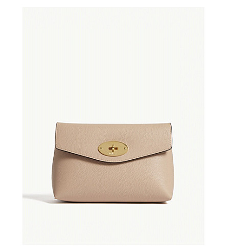 Darley small leather cosmetic pouch